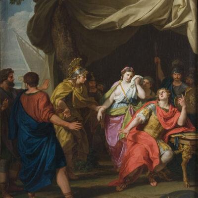 La separazione di Achille da Briseide, Giuseppe Bottani, Galleria Mossini, Mantova
