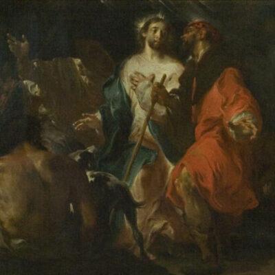 Incontro sulla strada di Emmaus Giuseppe Bazzani, Galleria Mossini, Mantova
