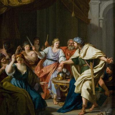Achille tra le figlie di re Licomede, Galleria Mossini, Mantova